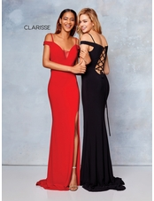 Clarisse Dress 3772 Off The Shoulder Jersey Gown | 7 Colors | Prom 2019