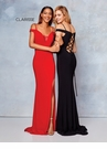 Clarisse Dress 3772 Off The Shoulder Jersey Gown | 4 Colors | Prom 2019