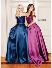 Clarisse Dress 3762 Off The Shoulder Lace Mikado | 3 Colors | Prom 2019
