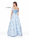 Clarisse Dress 3872 Periwinkle Off The Shoulder Ball Gown