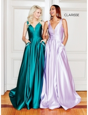 Clarisse Dress 3741 Satin Ball Gown | 7 Colors | Prom 2019