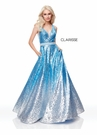 Sequin Ombre Ball Gown 3589 | 3 Colors!