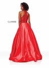Clarisse Dress 3753 Red Shimmery Halter Gown | Prom 2019
