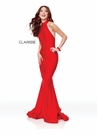 Clarisse Dress 3842 Silky Halter Jersey Gown | 2 Colors | Prom 2019