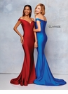 Clarisse Dress 3845 Silky Off The Shoulder Fit & Flare | 2 Colors | Prom 2019