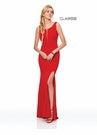 Clarisse Dress 3848 Shimmering Cut Out Gown | 2 Colors | Prom 2019