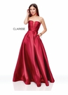 Clarisse Dress 3743 Strapless Wine Corset Ball Gown | Prom 2019