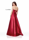 Clarisse Dress 3743 Strapless Wine Corset Ball Gown   Prom 2019