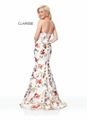 Clarisse Dress 3801 Strapless Floral Mermaid | Prom 2019