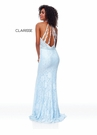Clarisse Dress 3828 Ice Blue Stretch Lace Gown | Prom 2019