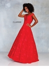Clarisse Dress 3838 Red Lace Off The Shoulder Ball Gown | Prom 2019