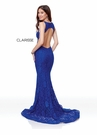 Clarisse Dress  3748 Stretch Lace Open Back Gown | 8 Colors | Prom 2019