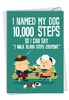 Hilarious Birthday Card From NobleWorksInc.com - 10,000 Steps