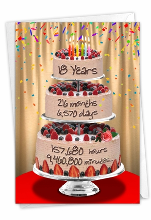Hysterical Milestone Birthday Card From NobleWorksInc.com - 18 Year Time Count