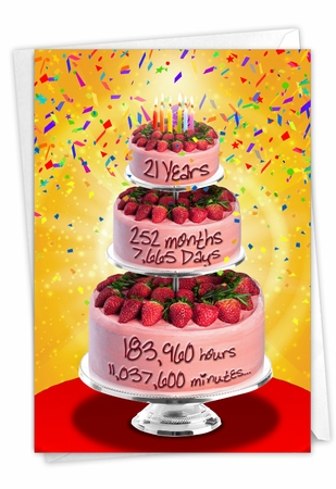 Funny Milestone Birthday Card From NobleWorksInc.com - 21 Year Time Count