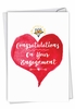 Humorous Engagement Card From NobleWorksInc.com - About Time