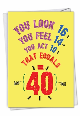 Funny Birthday Card From NobleWorksInc.com - Age Equation-40