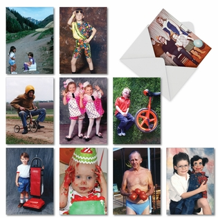 Hilarious Birthday Assorted Cards From NobleWorksInc.com - Another Year Older, Another Awkward Family Photo