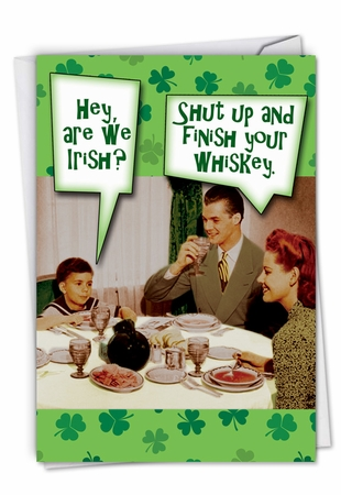 Hilarious St. Patrick's Day Card From NobleWorksInc.com - Are We Irish