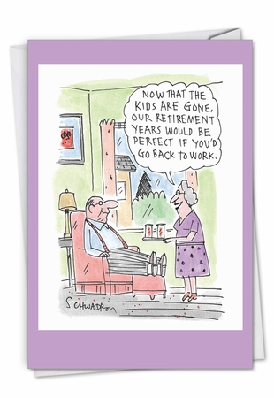 Humorous Retirement Card From NobleWorksInc.com - Back To Work