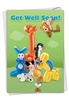 Creative Get Well Card From NobleWorksInc.com - Balloon Babies