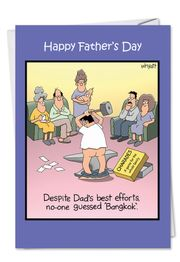 Bangkok Dad Fathers Day Funny Card