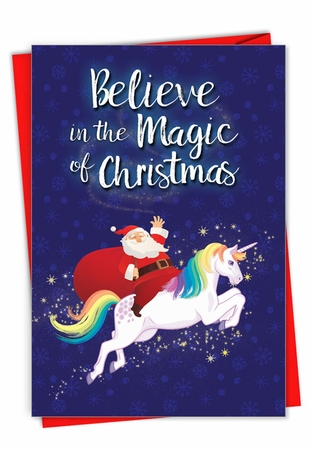 Funny Merry Christmas Card From NobleWorksInc.com - Believe In The Magic