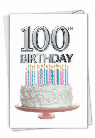 Stylish Milestone Birthday Card From NobleWorksInc.com - Big Day 100