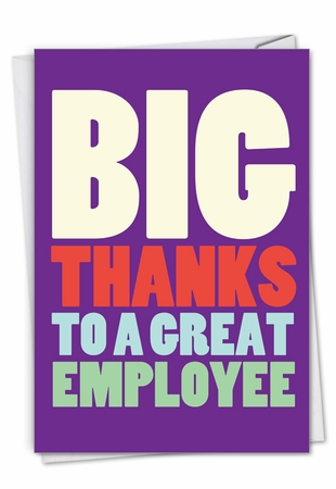 Hilarious Employee Appreciation Day Card From NobleWorksInc.com - Big Employee Thanks
