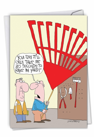 Hilarious Father's Day Card From NobleWorksInc.com - Big Rake