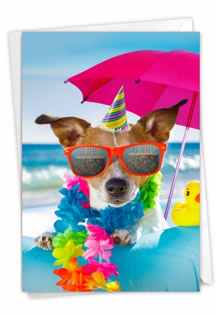 Funny Birthday Card From NobleWorksInc.com - Bitch on a Beach - Float