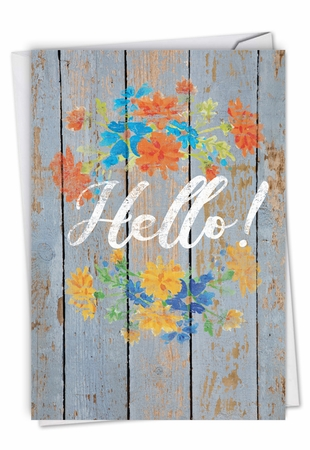 Creative All Occasions Card From NobleWorksInc.com - Blooming Driftwood - Hello