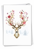 Creative Merry Christmas Card From NobleWorksInc.com - Blooming Reindeer - Branches