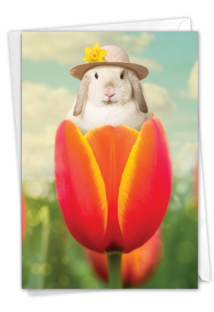 Hilarious Easter Card From NobleWorksInc.com - Bunny Tulip