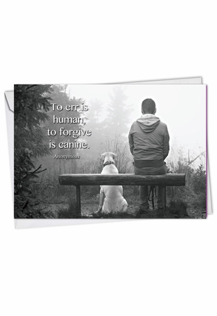 Artful Blank Card From NobleWorksInc.com - Canine Comments