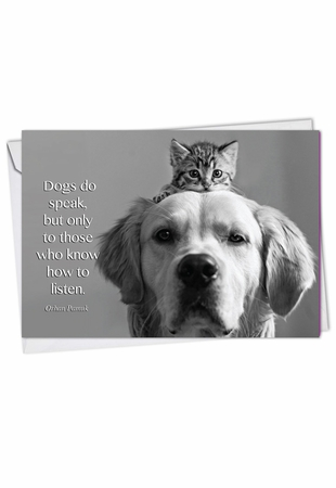 Artistic Blank Card From NobleWorksInc.com - Canine Comments