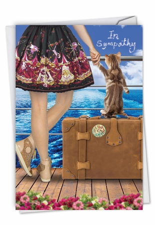 Stylish Sympathy Card From NobleWorksInc.com - Cat and Friend