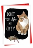 Humorous Merry Christmas Card From NobleWorksInc.com - Cat Gift