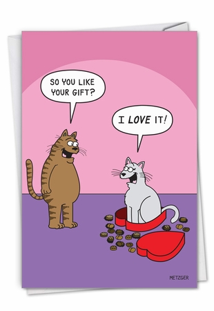 Hysterical Valentine's Day Card From NobleWorksInc.com - Cat In Candy