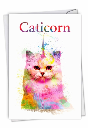 Creative Birthday Card From NobleWorksInc.com - Caticorn