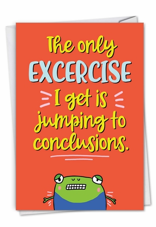 Funny Sorry Card From NobleWorksInc.com - Conclusion Jumping