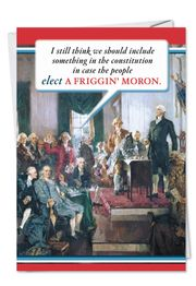 Constitution Political Obama Birthday funny greeting card