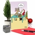 Humorous Merry Christmas Card From NobleWorksInc.com - Cookie Training