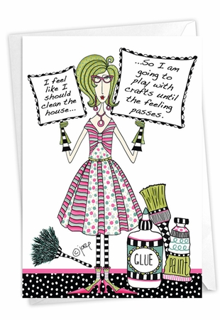 Hysterical Birthday Card From NobleWorksInc.com - Craft Room