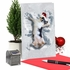 Stylish Merry Christmas Card From NobleWorksInc.com - Critter Snow Angels - Dog