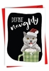 Funny Merry Christmas Card From NobleWorksInc.com - Define Naughty