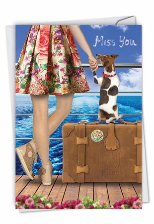 Creative Miss You Card From NobleWorksInc.com - Dog and Friend