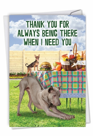 Funny Thank You Card From NobleWorksInc.com - Dog Assistance
