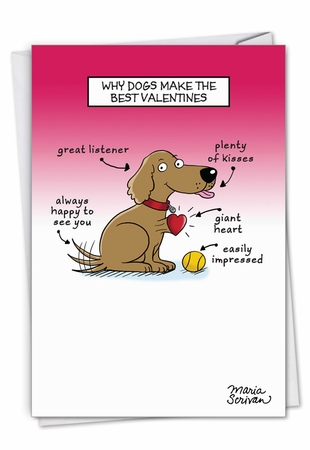 Hysterical Valentine's Day Card From NobleWorksInc.com - Dog Lovers