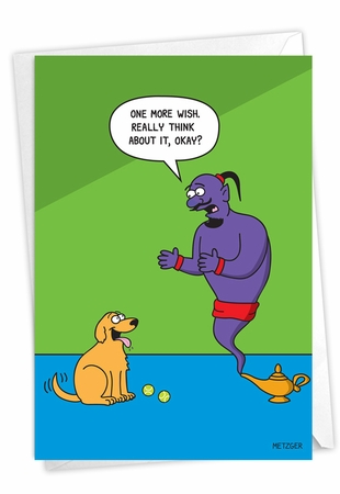 Funny Birthday Card From NobleWorksInc.com - Dog Wishes